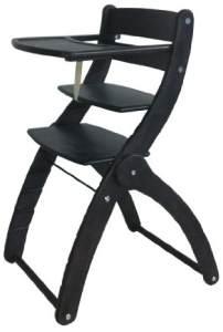 Schardt 011510016 Treppenhochstuhl Charly, schwarz lackiert