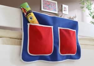 Bett-Tasche - blau-rot