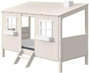 Flexa Classic Haus mit Einzelbett Weiß