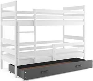 Interbeds 'Eryk' Etagenbett weiß/grau 80x160cm