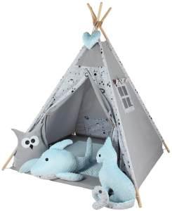 Kinderspielzelt Tipi Fadaa Spielzelt Zelt Megaset 5 Modelle Mädchen Junge by ChillyKids Blue Arche 04