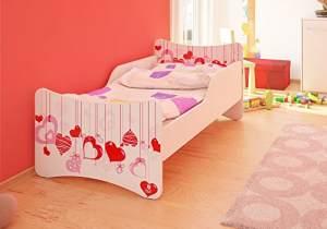Best For Kids Kinderbett mit Schaummatratze 90x200 cm, pink