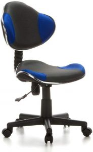 hjh OFFICE 633000 Kinderdrehstuhl Bürostuhl KIDDY GTI-2 grau blau, Kinderdrehstuhl für Schulanfänger, kindgerechte Ausführung, ergonomischer Kinderschreibtischstuhl, Kinderbürostuhl höhenverstellbar, Jugendstuhl