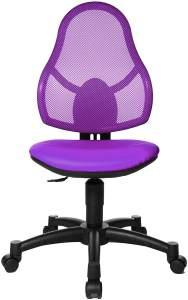 Topstar Open Art Junior, Bürostuhl, Schreibtischstuhl für Kinder und Jugendliche, Bezugsstoff, lila
