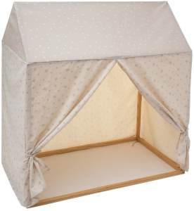 Spielzelt in Form eines Häuschens, 116 x 126 cm, - Atmosphera for kids Grau