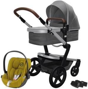 Joolz 'Day+' Kombikinderwagen Radiant Grey inkl. Cybex Cloud Z Plus Babyschale Mustard Yellow