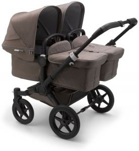 Bugaboo 'Donkey3 Twin' Zwillingswagen 2 in 1 Mineral Edition Schwarz / Taupe