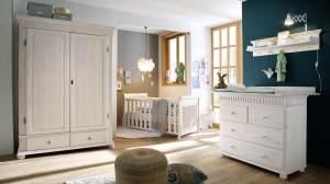 Euro Diffusion 'HELSINKI' 4-tlg. Babyzimmer-Set weiß