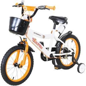 Actionbikes Timson Kinderfahrrad 16 Zoll Kinderrad inkl. Stützräder und Korb