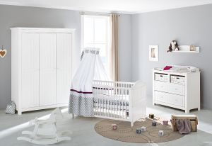 Pinolino 'Nina' 3-tlg. Babyzimmer-Set weiß, 3-türig