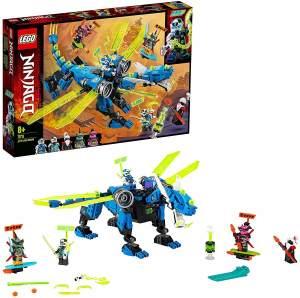 LEGO NINJAGO 71711 'Jays Cyber-Drache', 518 Teile, ab 8 Jahren, Mech, inkl. Minifiguren Digi Jay, Digi Nya, Unagami, Hausner und Richie