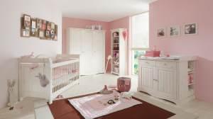 Steens 'LOTTA' 4-tlg. Babyzimmer-Set weiß/white wash