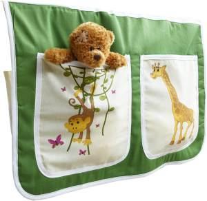 Ticaa 'safari' Bett-Tasche für Hoch- und Etagenbetten grün