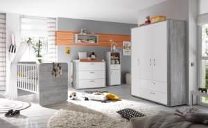 Babyzimmer Frieda 4 teilig von Mäusbacher in Vintage Wood grey