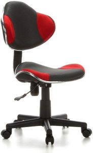 hjh OFFICE 633002 Kinderdrehstuhl Bürostuhl KIDDY GTI-2 grau rot, Kinderdrehstuhl für Schulanfänger, kindgerechte Ausführung, ergonomischer Kinderschreibtischstuhl, Kinderbürostuhl höhenverstellbar, Jugendstuhl