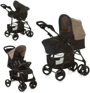 Hauck 'Shopper SLX Trioset' Kombikinderwagen 3 in 1 Melange Beige, inkl. Babywanne und Babyschale