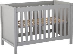 Quax 'Stripes' Babybett 70 x 140 cm Griffin Grey