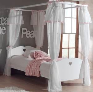 Amori 2-teiliges Kinderzimmerset Jugendzimmerset Kindermöbel Jugendmöbel 2 Weiß, inkl. Matratze Soft und Lattenrost 26 Leisten