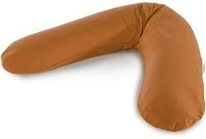 Das Original THERALINE Schwangerschafts- & Stillkissen   gefüllt mit sandfeinen Original-Mikroperlen   inkl. Außenbezug Ocker   190 cm
