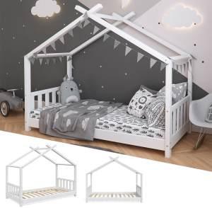 VitaliSpa 'Design' Hausbett 80x160 cm, Massivholz, weiß