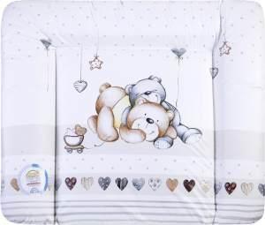 Julius Zöllner 'Softy' Wickelauflage 75 x 85 Folie 'Schmusebär'
