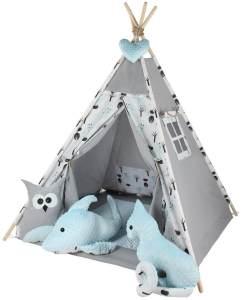 Kinderspielzelt Tipi Fadaa Spielzelt Zelt Megaset 5 Modelle Mädchen Junge by ChillyKids Forest 02