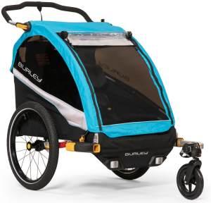Burley 'DLite X' Fahrradanhänger 2019, Aqua, 2-Sitzer