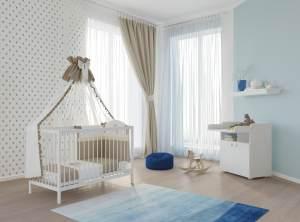 Polini Kids 2-tlg. Babyzimmer-Set weiß