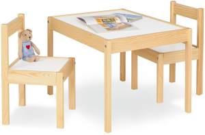 Pinolino 'Olaf' 3-tlg. Kindersitzgruppe natur/weiß