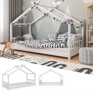 VitaliSpa 'Design' Hausbett weiß, 90 x 200 cm, Massivholz