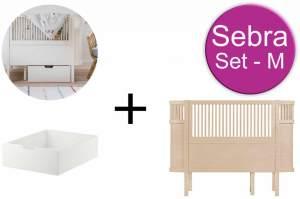 Sebra Baby & Juniorbett mit Schublade Set-M Wooden Edition