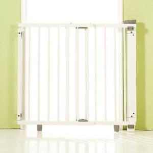 Geuther Treppenschutzgitter, für Türbreiten 86 - 133 cm, zum Bohren, Holz, Weiß, TÜV geprüft