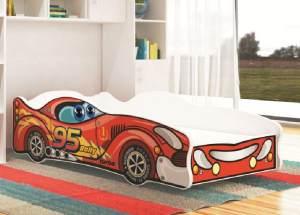 Relita 'TURBO RALLY' Autobett rot/weiß 80x160