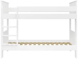 STEENS 'ALBA' Etagenbett 75 x 200 cm, Weiß, inkl. Lattenroste