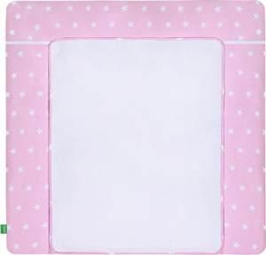 LULANDO 'White Stars' Wickelauflage 75 x 85 cm rosa/weiß