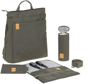 LÄSSIG Baby Wickelrucksack Wickeltasche inkl. Zubehör nachhaltig produziert/Green Label Tyve Backpack, olive