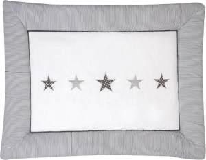 Krabbeldecke Stern grau
