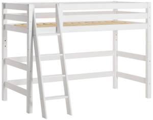 Hoppekids 'Premium' Hochbett 90x200 cm, weiß, inkl. Rollrost, schräge Leiter, nachhaltig