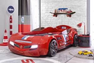 Cilek 'BiTURBO' Autobett rot, mit Matratze