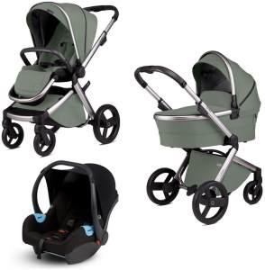 Anex 'l/type' Kombikinderwagen 4plusin1 2020 in Pesto, inkl. Babywanne, Babyschale, Sportsitz