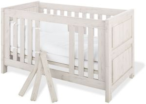 Pinolino 'Line' Kombi-Kinderbett Eiche grau