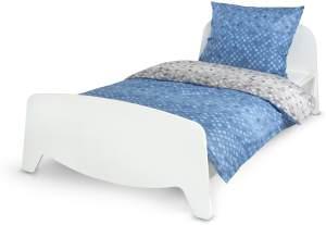 Einzelbett mit Lattenrost - SOPHIA - Holzbett ausziehbar auf 90x200 cm (3 Größen) + Matratze 200/90 cm