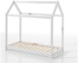 Vipack Hausbett weiß, 70x140 cm, inkl. Lattenrost