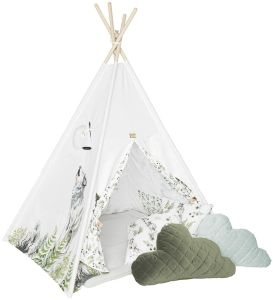 BabySteps Premium Tipi-Zelt für Kinder - Wolf