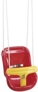Hudora 72112 'Babyhochschaukel' 36 x 44 x 33 cm, ab 12 Monaten, bis 25 kg belastbar, höhenverstellbar, rot-gelb