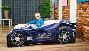 Lux4Kids 'Delfin' Autobett 70x140 cm, 122 Blue, mit Matratze und Lattenrost
