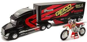 New Ray LKW 1/32 Geico Honda Kevin Windham Collection 1:38, 810258, schwarz