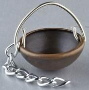 Kupferkessel für Krippen, Hobby- und Modellbau, 10 mm, ohne Kette