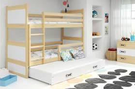 Stylefy Lora mit Extrabett Etagenbett 80x190 cm Kiefer Weiß