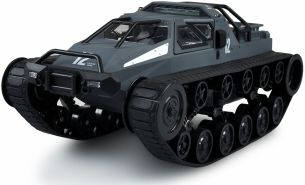 Ketten-Drift-Fahrzeug Military Police 1:12 grau-blau RTR